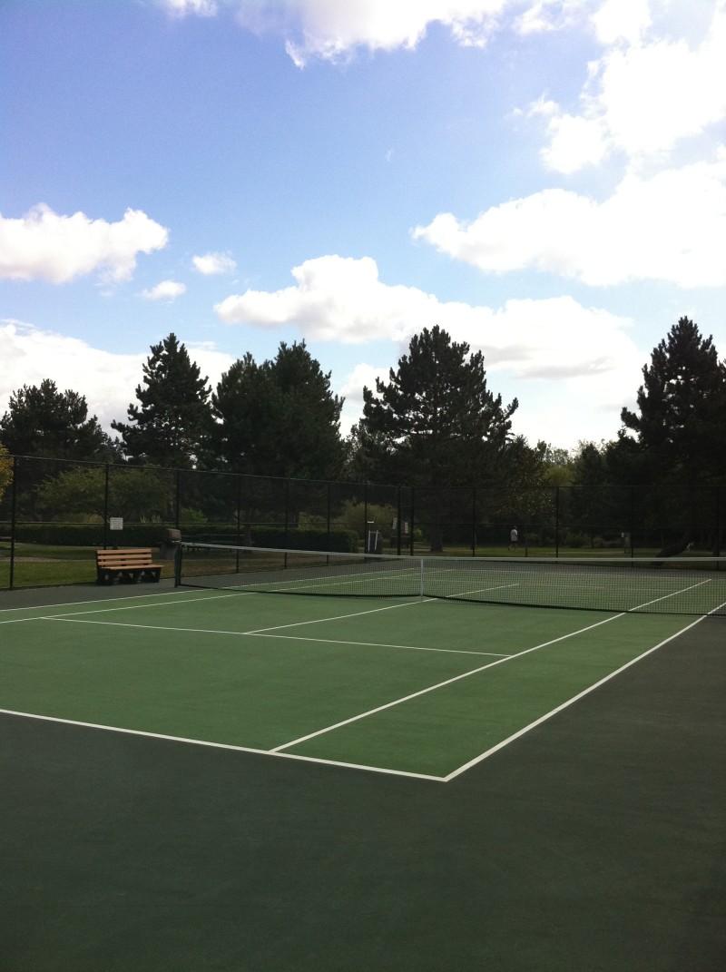 Empty Public Tennis Court