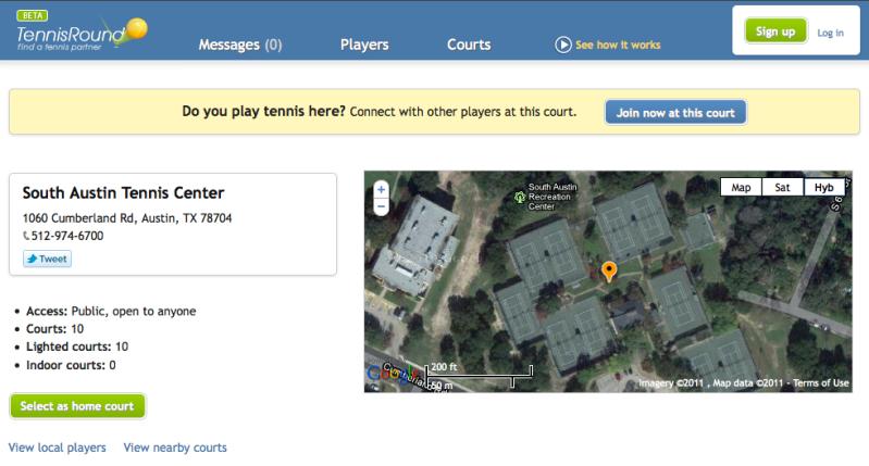 South Austin Tennis Center Profile Page