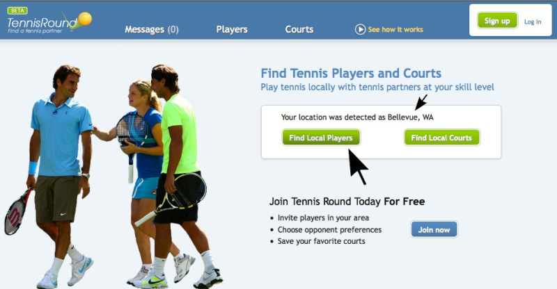 tennis round home page