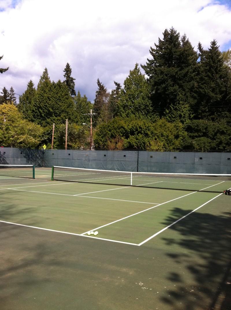 enatai park tennis courts - bellevue  wa