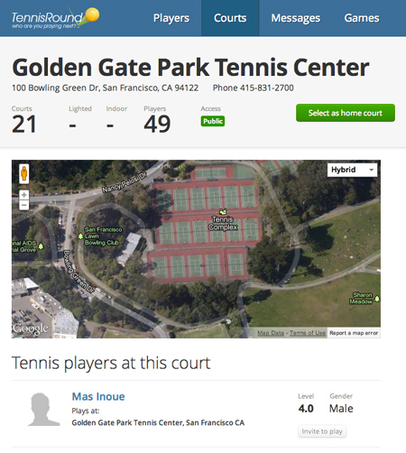 tennis players at this court - golden gate park