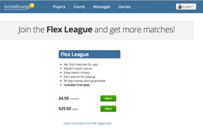 join flex league tennis round