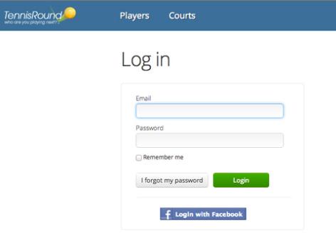 login tennis round